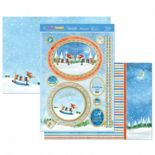 Hunkydory Dachshund Through the Snow Luxury Topper Set
