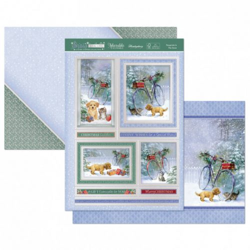 Hunkydory Crafts Pawprints in the Snow Luxury Topper Set