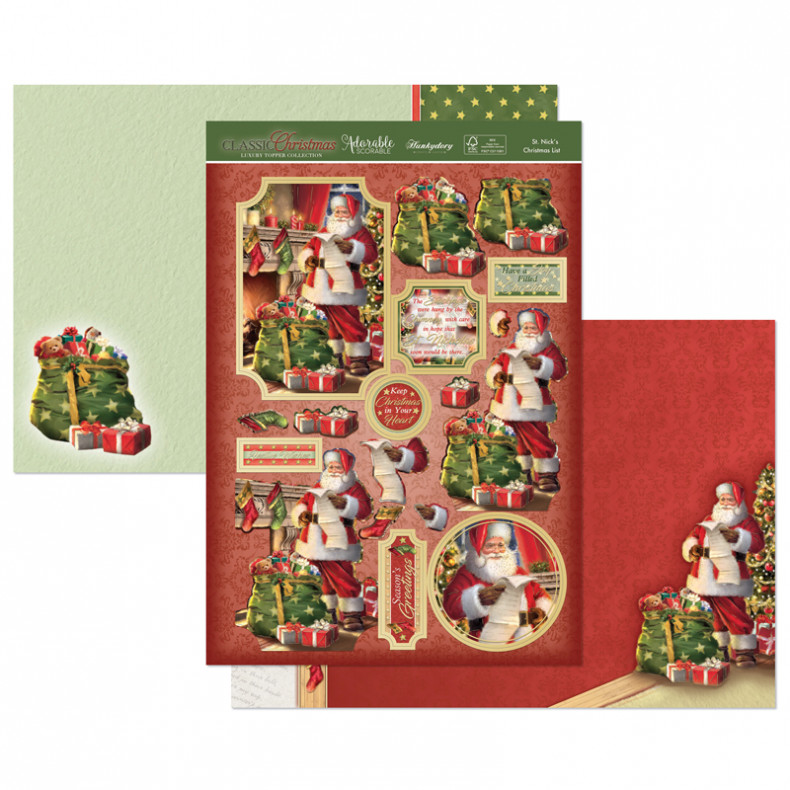 Christmas Iconography.Hunkydory Classic Christmas Luxury Topper Collection
