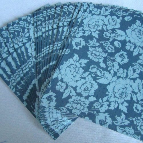 Kanban A6 Card Stock 30 Sheets In Blue Floral Design