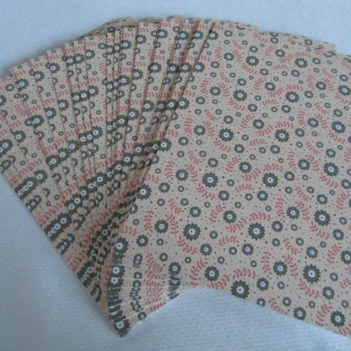 Kanban A6 Card Stock 30 Sheets In Apricot Daisy Design
