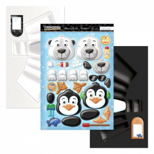 Hunkydory Box-Pops Snowball the Polar Bear & Chilly the Penguin